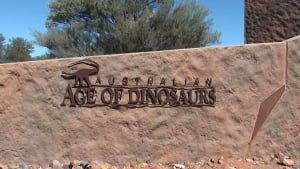Australian Age of Dinosaurs Visitor Centre sign