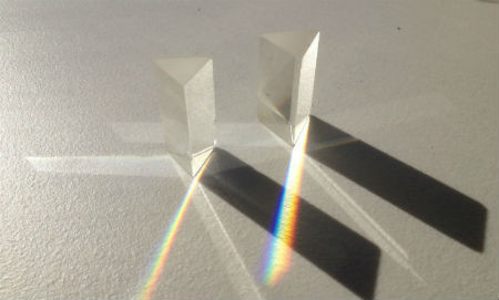 Rainbows coming out of a prism