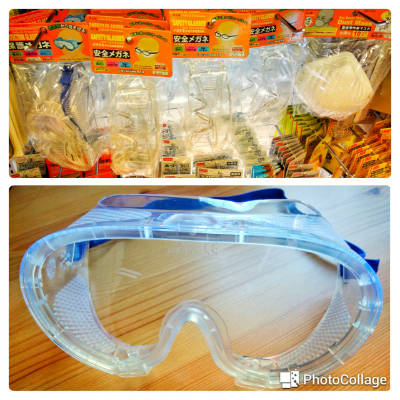 Daiso safety goggles assorted and face mask