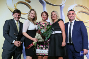 Fizzics Education accepts Australian Chamions of Small Business Award for Educational Services 2016