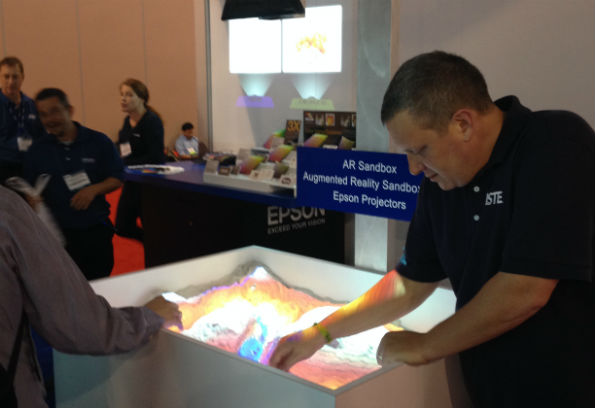 Augmented reality sandbox at ISTE
