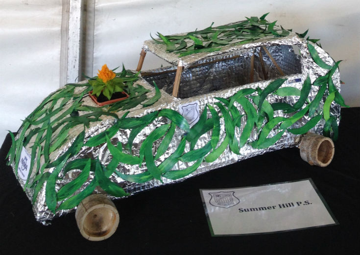 Biofuel powered car artwork by Summer Hill Public School