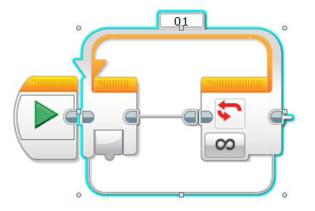 EV3 Lego robotics loop block
