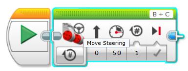 EV3 Lego robotics move steering block
