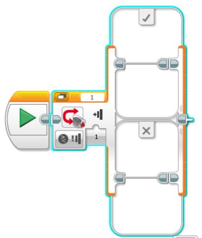 EV3 Lego robotics switch block