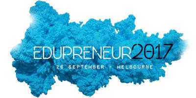 2017 Edupreneur event in Melbourne (writing over a blue cloud)