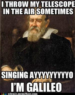 Galileo portrait with text