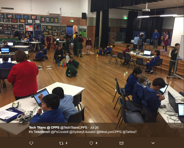 Grouped learning on robotics at TPL Condell Park Public School 600 x 485px