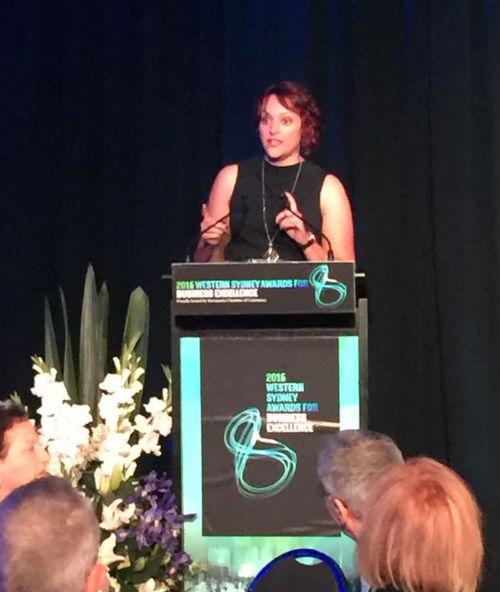 Holly at WSABE 2016 awards