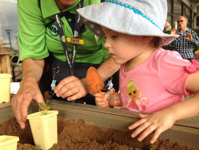 Learning gardening tips at the Sydney Royal Easter Show
