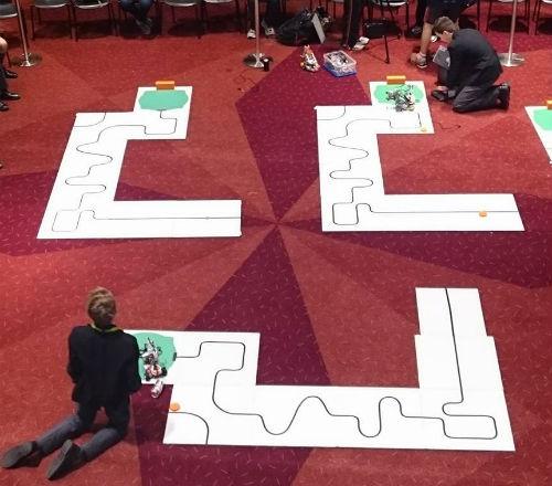 Lego robot line follower challenge
