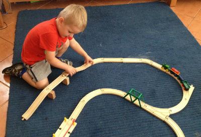 Making a wooden train set