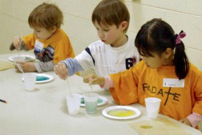 Milk food colour experiment