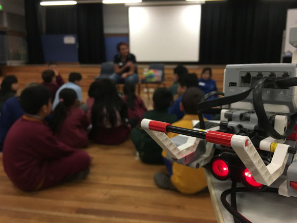 Robot at Condell Park TPL session