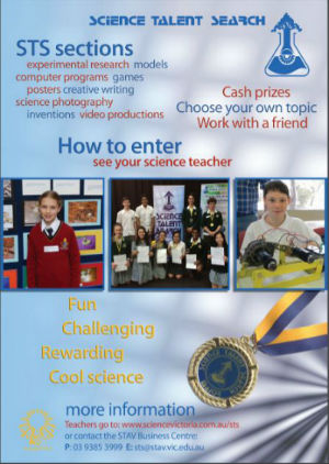 Science talent search poster