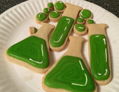 Science beaker cookies