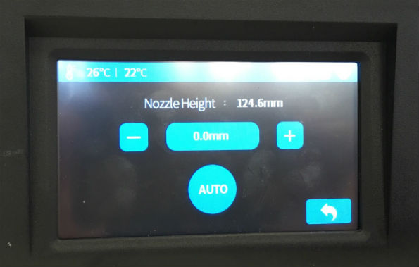 Setting the nozzle height on a 3D printer