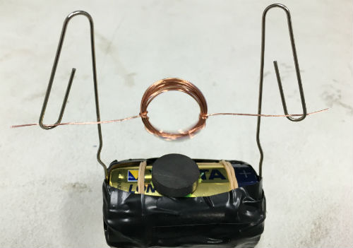 Simple motor science experiment