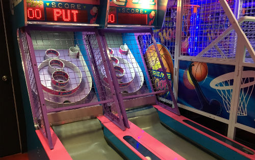 Two Skee ball tables