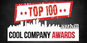 Top 100 Cool Company 2016 by Anthill Magazine