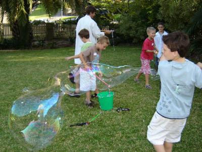 giant bubbles in science party