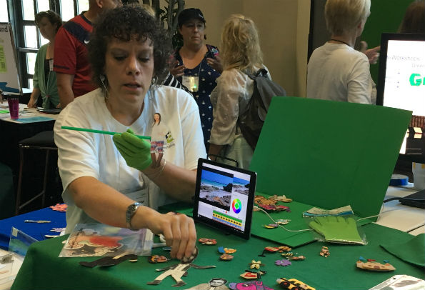 iPad and green screen storytelling at ISTE