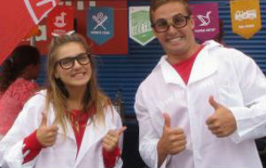 lab coats in a science workshop