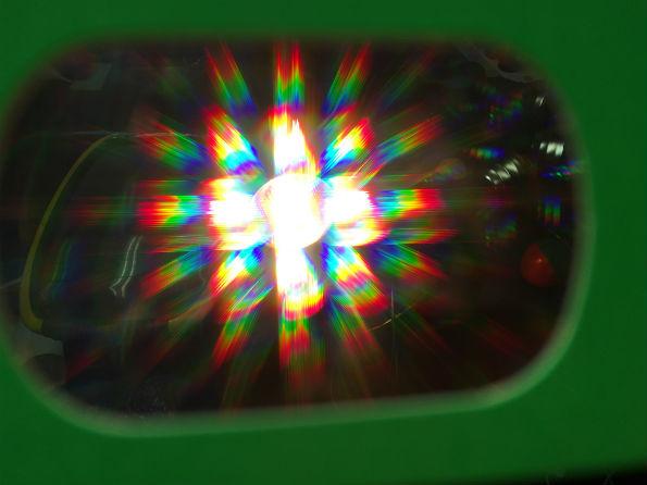 rainbows seen through fireworks glasses