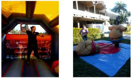 sumo suits and jumping castles