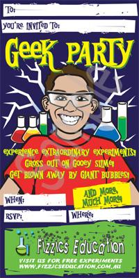 Geek Party Invitation