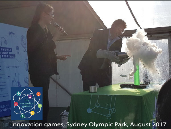 Minister Craig Laundy and Fizzics Education at Innovation games August 2017