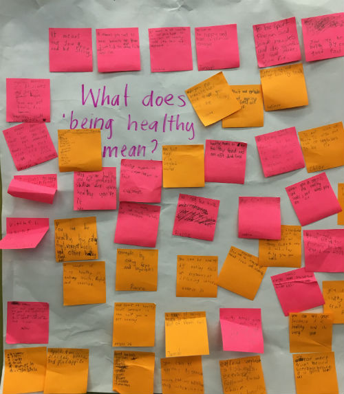 Post-It notes for teaching healthy habits